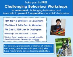 Take Part In FREE Challenging Behaviour Workshops